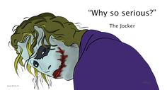 Why so serious - the jocker Why So Serious, Inspirational Quotes, Movies, Movie Posters, Life Coach Quotes, Film Poster, Inspring Quotes, Films, Popcorn Posters