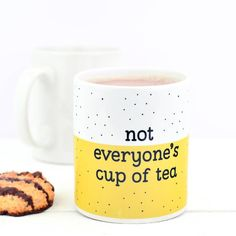 Bread & Jam Not Everyone's Cup Of Tea Mug ($12) ❤ liked on Polyvore featuring home, kitchen & dining, drinkware, tea cup and tea mug