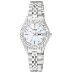 Citizen Quartz Stainless Steel Bracelet Women's Watch - EQ0530-51D Citizen http://www.amazon.com/dp/B008FG7ESC/ref=cm_sw_r_pi_dp_3Zwhvb08CJHD6