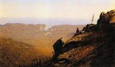 Sanford Robinson Gifford - The Artist Sketching at Mount Desert, Maine