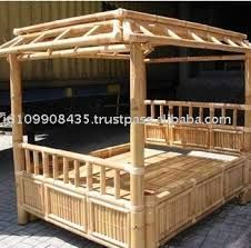 Bamboo Canopy bed.