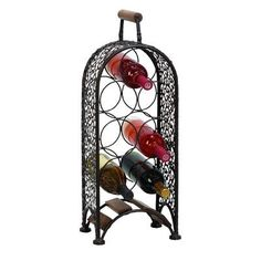 Woodland Imports 7 Bottle Tabletop Wine Rack