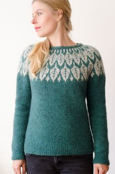Ravelry: Project Gallery for Arboreal pattern by Jennifer Steingass Knitting Designs, Knitting Projects, Double Knitting, Hand Knitting, Knitting Patterns, Crochet Patterns, Icelandic Sweaters, Collor, Fair Isle Knitting