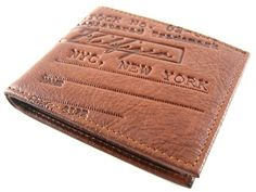 Tommy Hilfiger Stamford Tan Passcase Billfold Wallet w/Leather Lining - Tommy Hilfiger Wallets - Designer Wallets
