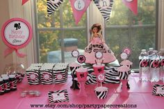 Printable for Barbie Birthday Party