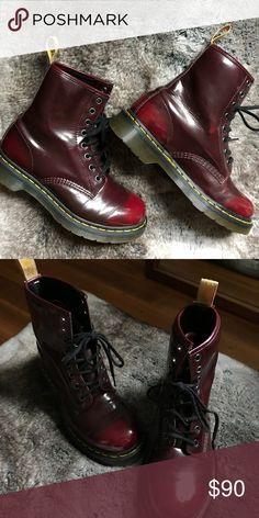 Vegan Doc Martens Barely worn vegan docs! Dr. Martens Shoes Combat & Moto Boots