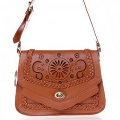 Retro style napa leather cross body bags for women
