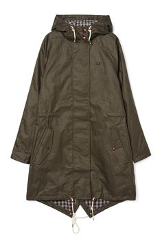 Fred Perry - Oversized Fishtail Parka Hunting Green