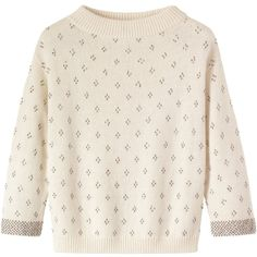 Toast Viktoria Beaded Sweater (160 AUD) ❤ liked on Polyvore featuring tops, sweaters, shirts, jumpers, winter white, boatneck sweater, ivory sweater, ivory shirt, beaded shirt and boat neck shirt