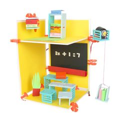 "Original Roominate Classroom- ""The Original DIY wired dollhouse building kit."" Cool."