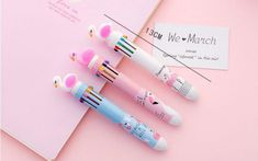 Flamingos ball pen in ten colors Cute Pens, Games Box, Office Stationery, Name Signs, Stationary, Colors, Name Labels, Colour, Color
