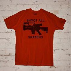 Berrics Shoot All Skaters T-Shirt (Red)