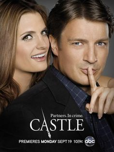 The Season 4 poster of Stana Katic and Nathan Fillion (as Kate Beckett and Rick Castle) in Castle! Can't wait until Monday!