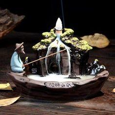 Guilin, Burning Incense, Incense Burner, Incense Cones, Incense Sticks, Porcelain Ceramics, Ceramic Art, Ceramic Fish, Ceramic Incense Holder