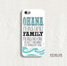 Disney phone case Stitch Lilo Ohana case for by iStarCase221