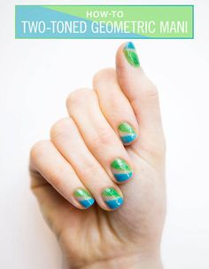 Nail Art How-To: Geometric Neon Mani
