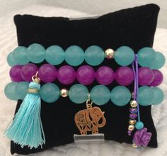 Passion on the Sea Bracelet Set by strawberryandlime on Etsy, $50.00