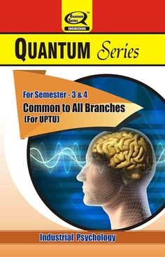 #QuantumSeries presents #IndustrialPsychology #books for #UPTU B.Tech #students…