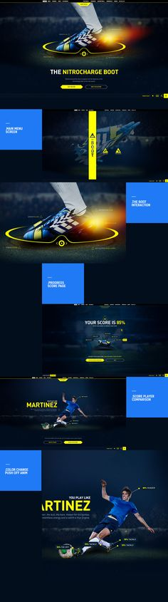 Unique Web Design on the Internet, Adidas #webdesign #websitedesign #design #website http://www.pinterest.com/aldenchong/design/