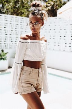 Lässige Mode, Sommer Outfit 2018, Sommer Outfits Damen, Outfit Ideen  Sommer, Sommer 67c4816fbc
