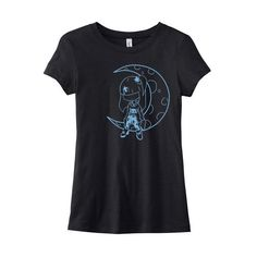 Pastel Moon T-Shirt Kawaii Moon Pastel Goth Clothes Gothic Lolita Tee... ($20) ❤ liked on Polyvore featuring tops, t-shirts, black, women's clothing, screen print shirts, cotton shirts, t shirts, cotton t shirt and goth t shirts