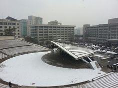 한양대학교 설경(雪景), 눈오는날 : Outdoor Theater, Snow in Hanyang Univeristy, Seoul, Korea