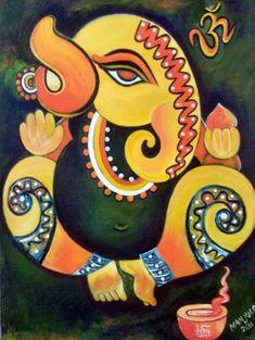 Latest HD Photos, images, HD wallpapers for mobiles # Lord Ganesha Paintings, Ganesha Art, Krishna Art, Ganesha Sketch, Madhubani Art, Madhubani Painting, Peacock Painting, Love Painting, Hindu Deities