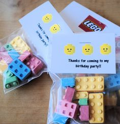 Lego party favors free printable