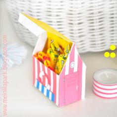 Free printable summer favor box - ausdruckbare Geschenkbox - freebie | MeinLilaPark – DIY printables and downloads