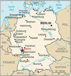 Mainz Germany Map - Germany map mainz
