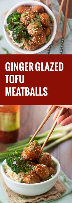 These shittake mushroom and tofu meatballs are flavored with savory seasonings and drenched in a sticky ginger glaze. Serve them up as a fun party appetizer, or add some rice and veggies for a flavor-packed meal.