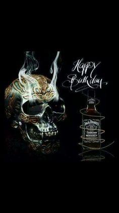 Happy Birthday Black, Happy Birthday Funny, Happy Birthday Greetings, Boy Birthday, Birthday Wishes, Birthday Quotes, Birthday Funnies, Skull Artwork, Glo Up