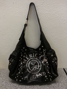 Harley-Davidson Purses or Handbags | ... about WOMEN'S HARLEY DAVIDSON MOTORCYCLE BLACK SHOULDER HANDBAG/PURSE