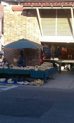 Gullah Basket Maker at Charleston City Market