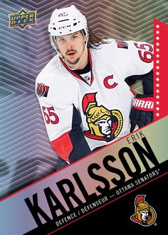 Tim Hortons Collect To Win - Upper Deck Hockey Cards - Erik Karlsson Hockey Cards, Football Cards, Baseball Cards, Ice King, Tim Hortons, Collector Cards, Sports Pictures, Upper Deck, Hockey Players
