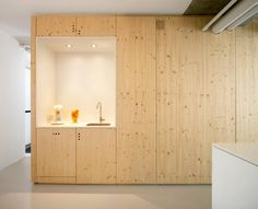 Unique apartment redesign in Amsterdam and new house design ideas from Laura Alvarez Architecture demonstrate a complete renovation project that the company have developed for an apartment in the Kattenburg area of Amsterdam Kitchen Interior, Home Interior Design, Interior Designing, Kitchen Design, Floor To Ceiling Cabinets, Wooden Wall Panels, Build A Closet, Cupboard Storage, Kitchen Storage