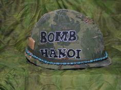 Vietnam Helmet Art | my m1 helmet with paintings