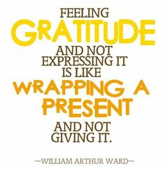 """Another pinner says, """"This gives me an idea for our next Family Thanksgiving. As the hostess, I will wrap a small gift tied up with a beautiful bow and each person's name written on the box as a place marker. Inside I will include this saying and one reason that person is special to me.~SF"""""""