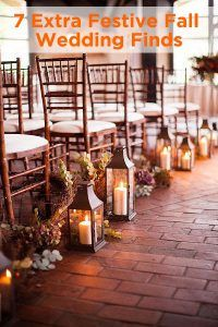 Feeling festive? So are we! Check out these fabulous fall wedding finds