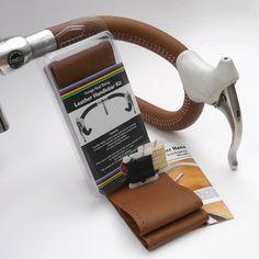 Tan Leather Handlebar Kit