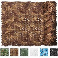 IUNIO Camouflage Netting, 32.8ft x 5ft / 10m x 1.5m Custom Desert Camo Net Great for Sunshade Camping Shooting Hunting etc. #hunting #hunting camouflage