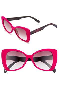 Italia Independent 'I-V' 65mm Oversize Butterfly Sunglasses available at #Nordstrom