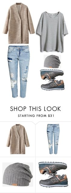 """Outfit Idea by Polyvore Remix"" by polyvore-remix ❤ liked on Polyvore featuring H&M, Barts and New Balance"