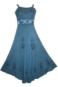 #1003 Agan Traders Wedding Evening Renaissance Summer Spaghetti Strap Dress ~ India (L, Blue) Agan Traders,http://www.amazon.com/dp/B00ET7KZ82/ref=cm_sw_r_pi_dp_k2yosb01YAZQR7MW