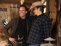 Justified - actors Walter Goggins and Timothy Olyphant.  Two very excellent reasons as to why I watch this show :) LOL