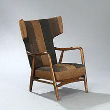 Eva Koppel & Nils Koppel, Wingback Chair by Alagelse Mobelvaerk, 1947.