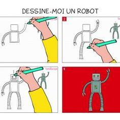 Apprendre à dessiner un robot en 3 étapes