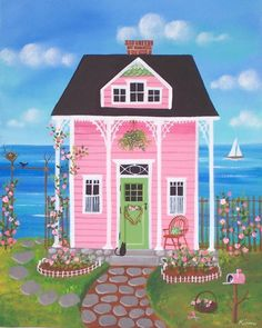Hey Dinka, I think when Keira said you needed to paint your house pink, she was picturing something like this  :-)
