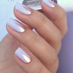 Pastel & Chrome nail art by lackfein