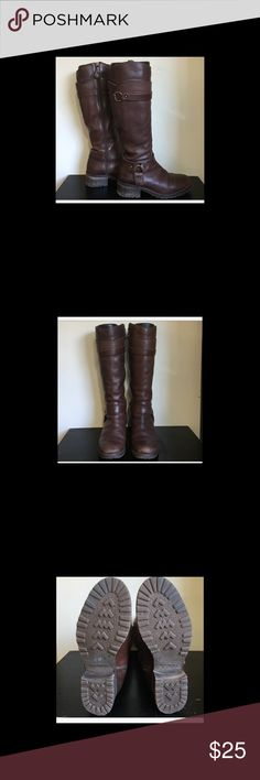 """Fabianelli Made in Italy Chestnut Riding Boots Great condition the boots has a 1"""" block heel and a rubber texture outsole with a rounded toe and soft fine faux fur inner lining for maximum comfort and warmth.  Made in Italy. Shoes Heeled Boots"""